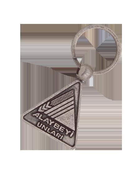 Üçgen Model Nikel Eskitme Döküm  Anahtarlık - EA 0