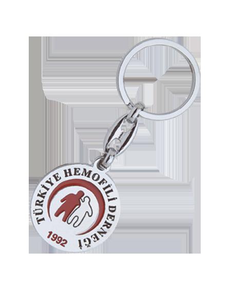 Yuvarlak Dernek Logolu Anahtarlık - PA 09