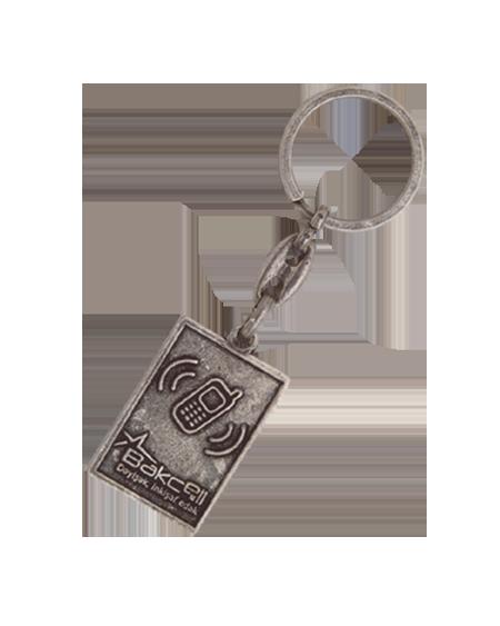 Çerçeveli Eskitme Zincirli Anahtarlık EA 10