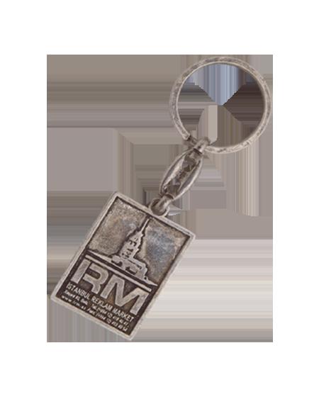 Kare Model Tek Yön Kabartma Logo Anahtarlık EA 11