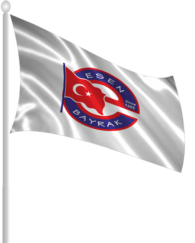 Esen Bayrak Logolu Flama Bayrak -YF012