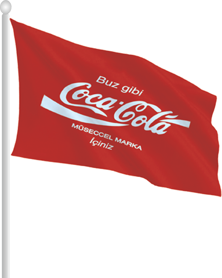 Logolu Tek Kat Direk Bayrak - YDB03